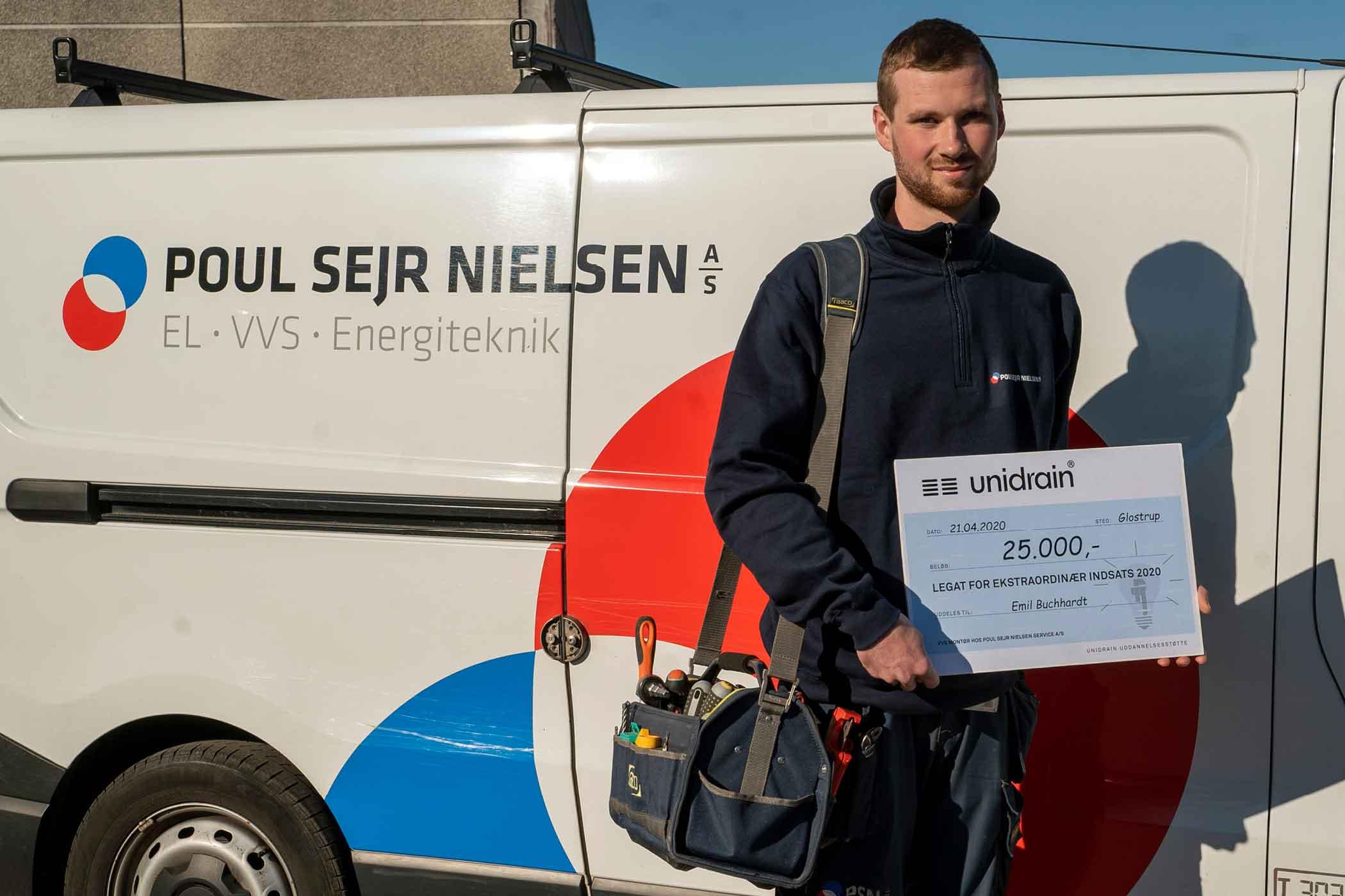 Talent hos Poul Sejr Nielsen vinder legat