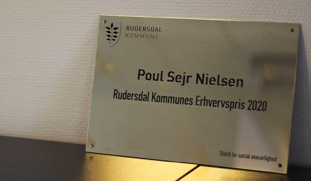 Poul Sejr Nielsen modtager Rudersdal Kommunes Erhvervspris